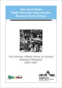 Walk to School Research Program 2005-2007