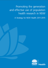 Population Health Research Strategy 2011-2015