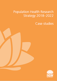 Population Health Research Strategy 2018-2022: Case studies