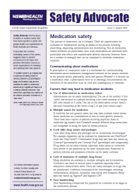 Safety Advocate Issue 2 - Medication Safety