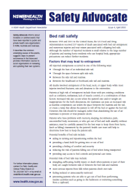 Safety Advocate Issue 4 - Bed Rail Hazards