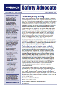 Safety Advocate Issue 5 - Infusion Pump Safety