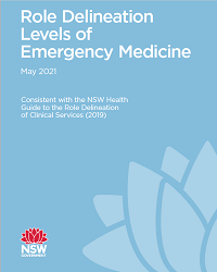 Role Delineation Levels of Emergency Medicine