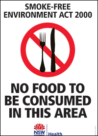 No food to be consumed in this area
