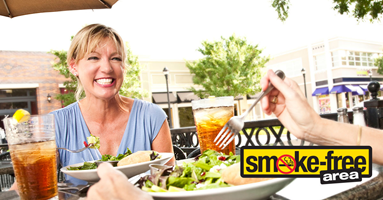 Commercial Outdoor Dining Areas - are now smoke-free
