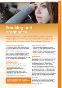 Smoking causes harm to babies even before they are born. Find out more in the Smoking and Pregnancy fact sheet.
