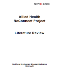 Allied Health ReConnect Project Literature Review