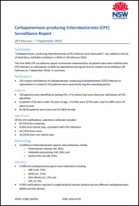 CPE Surveillance Report - 28 February to 7 September 2019