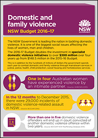 Domestic and family violence - NSW Budget 2016-17