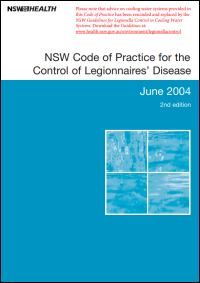NSW Code of Practice for the Control of Legionnaires' Disease 2nd Edition 2004