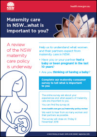 Maternity care in NSW - what is important to you?